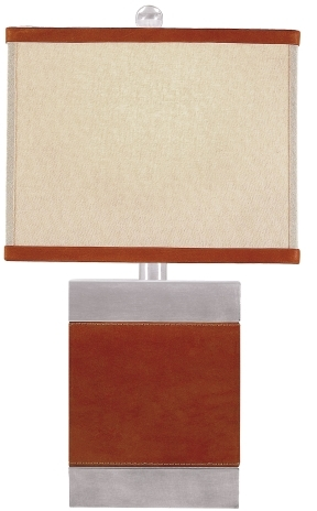 Small Leather Table Lamp