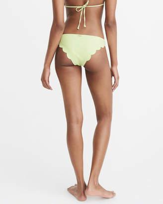 Abercrombie & Fitch Scallop Cheeky Bikini Bottom