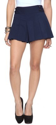 Forever 21 Pleated Nautical Shorts