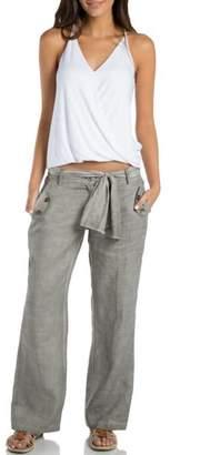 Elan International Grey Linen Pants