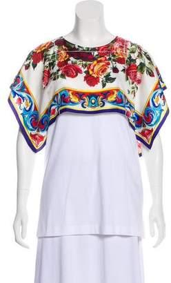 Dolce & Gabbana Overlay Short Sleeve Top w/ Tags
