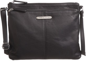 Stone Mountain USA Butter Leather Two-Pocket Crossbody Bag