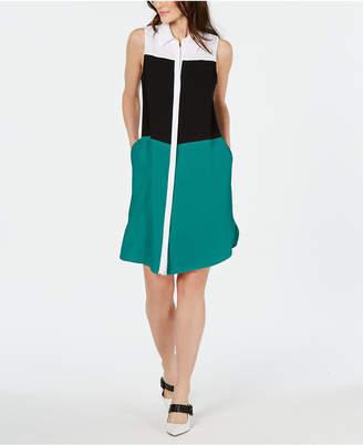Alfani Colorblocked Shirtdress