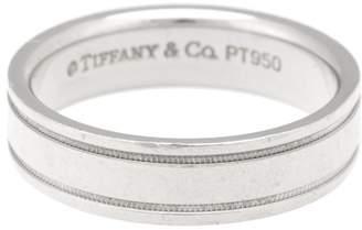 Tiffany & Co. Platinum Milgrain Mens Ring Size 11.5