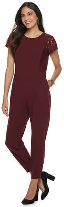 Apt. 9 Women's Lace Sleeve Jumpsuit