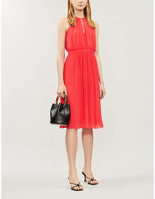 MICHAEL Michael Kors Chain-detail pleated crepe dress