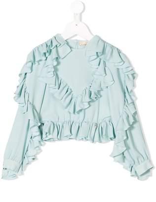 Elisabetta Franchi La Mia Bambina ruffled blouse