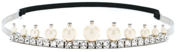 Miu MiuMiu Miu crystal and pearl tiara