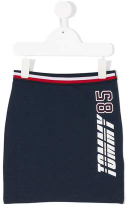 Tommy Hilfiger Junior elasticated waistband fitted skirt