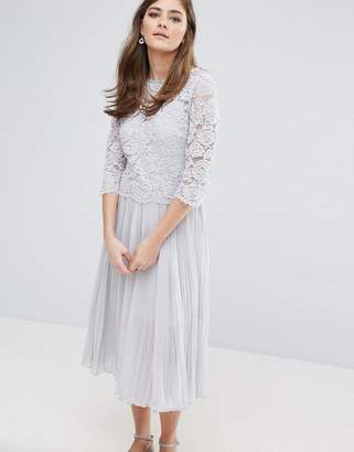 Oasis OASIS LACE PLEATED MIDI DRESS $118 thestylecure.com