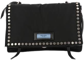 Prada Crossbody Bags Nylon Etiquette Pattina Bag With Studs Logo And Shoulder Strap