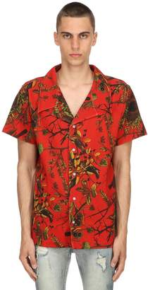 Exotic Flower Button Down Camp Shirt