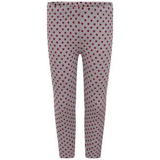 GUESS GuessGirls Grey & Red Heart Leggings