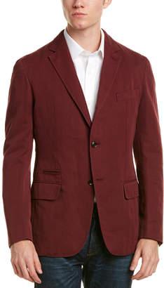 Ermenegildo Zegna Leather-Trim Tailored Fit Sportcoat