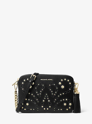 Michael Kors Ginny Medium Embellished Leather Crossbody