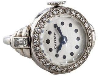Cartier Platinum Diamond Watch Ring