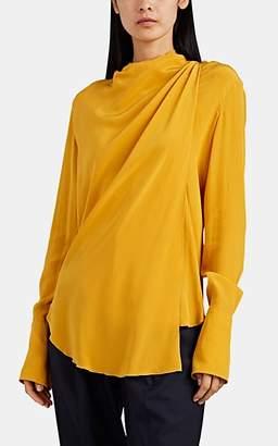 A.L.C. Women's Sophie Silk Wrap Blouse - Yellow