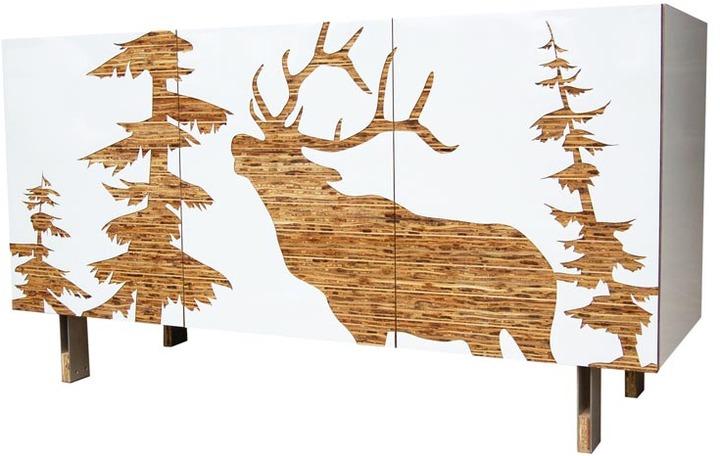 Iannone Design - White Mod Lodge Sideboard