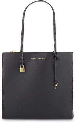 Marc Jacobs Ladies Black and Gold The Grind Leather Tote Shoulder Bag