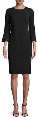Calvin Klein Bell-Sleeve Lace Sheath Dress
