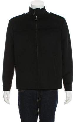 Prada Woven Zip-Up Jacket