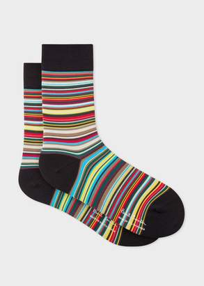 Paul Smith Mens Multi-Coloured 'Signature Stripe' Cycling Socks