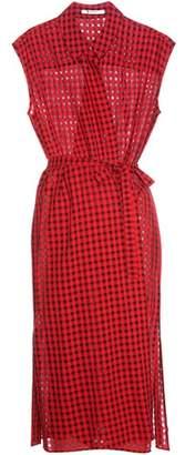 Alexander Wang Wool-blend wrap dress