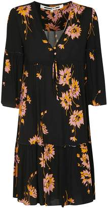 McQ Floral Flared Mini Dress