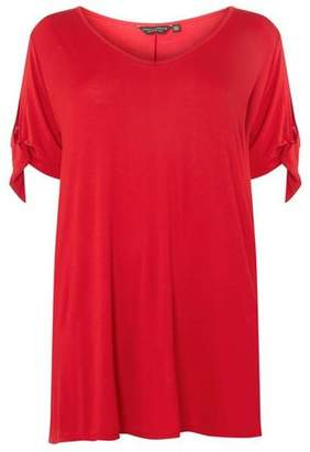 Dorothy Perkins Womens **DP Curve Red Bow Sleeve T-Shirt