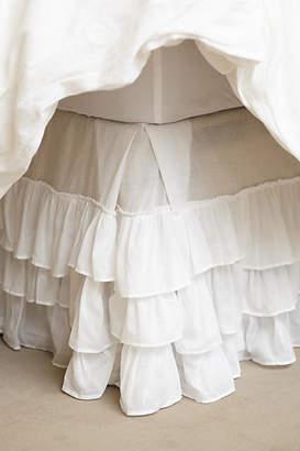 Anthropologie Pleated Ruffles Bed Skirt