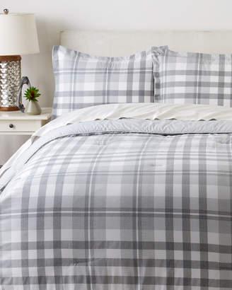 Tommy Hilfiger Grey & White Range Plaid Comforter Set