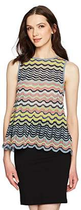 M Missoni Women's Wave Ripple Knit Tank Top