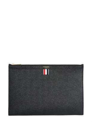 Thom Browne Granulated Leather Pouch
