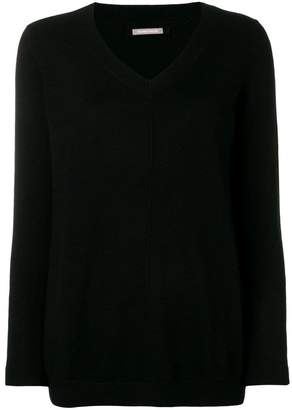 Hemisphere cashmere V-neck sweater