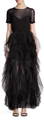 BCBGMAXAZRIA Tierra Tulle Gown $498 thestylecure.com
