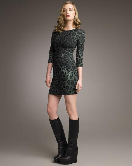 Dolce & Gabbana Leopard-Print Minidress