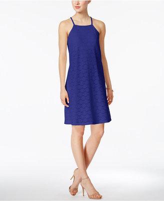 Nine West Lace Apron Shift Dress $89 thestylecure.com