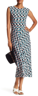 Chaus Cap Sleeve Shadow Glass Maxi Dress $99 thestylecure.com