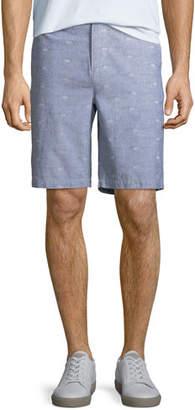 Paige Men's Thompson Dot-Pattern Cotton Shorts