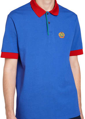 Burberry Colorblock Crest Polo Shirt