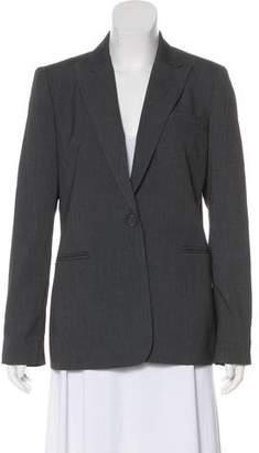 Calvin Klein Notched Lapel Button-Up Blazer