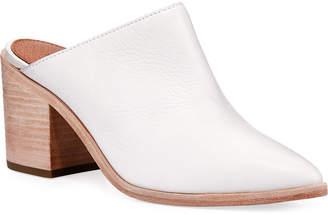 Frye Flynn Leather Block-Heel Mule