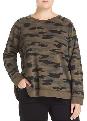 Lucky Brand Plus Camo Print Sweatshirt