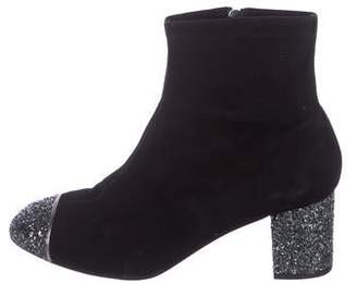 LK Bennett Suede Cap-Toe Ankle Boots