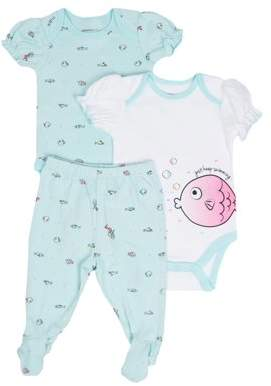 Vitamins Baby Vitamins Newborn Baby Girl Bodysuits & Pants, 3pc Set