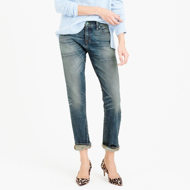 J.Crew Point Sur Japanese denim with cashmere jean in Lynndale wash