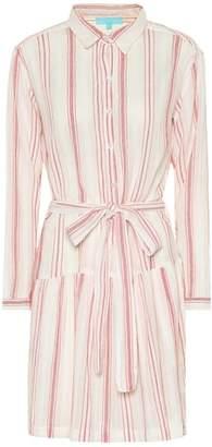Melissa Odabash Amelia striped cotton minidress