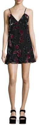 Anna Sui Women's Rose Velvet Burn Out Tank Dress