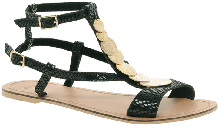 Asos FREEFALL Leather Sandals with Trim