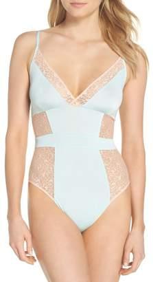 Halogen Satin Lace Bodysuit